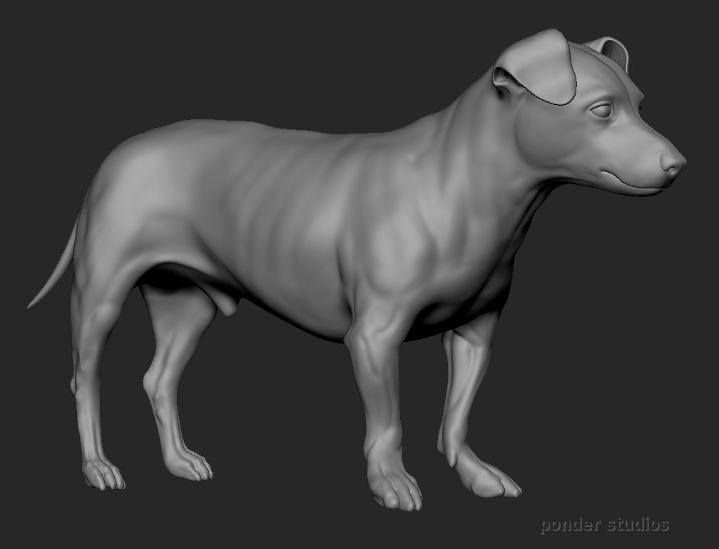 ZBrush sculpt, screen capture - WIP.